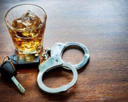 whiskey with car keys